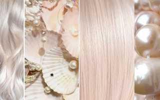 Окрашивание волос жемчужный блонд