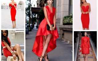Маникюр к черно красному платью