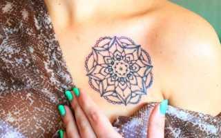 Как закрепить временную татуировку