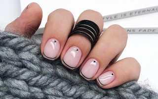 Элегантный маникюр на короткие ногти