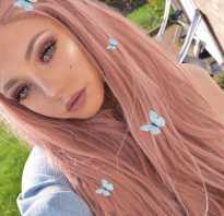 Пепельный розовый цвет волос