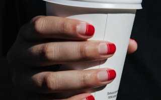Дизайн ногтей ярко красного цвета