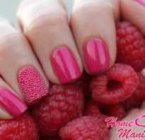 Дизайн ногтей малиновый