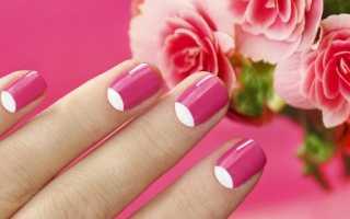 Яркий маникюр на очень короткие ногти