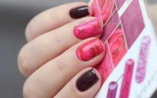 Дизайн ногтей наклейками на гель лак