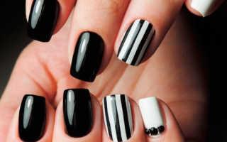 Гель лак на короткие ногти темные цвета