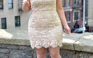 Кружевные платья для полных женщин фото