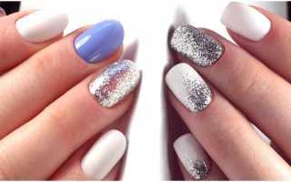 Дизайн ногтей серебристого цвета