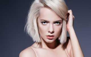 Каре на светлые волосы без челки фото