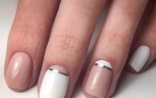 Эффектный маникюр на короткие ногти