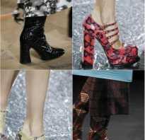 Какая модная обувь зима 2018
