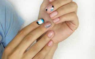 Дизайн ногтей черный геометрия