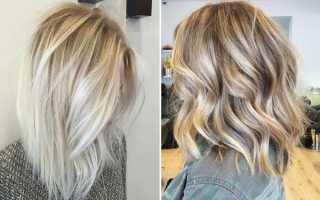 Мелирование светлых волос темными прядями фото