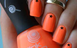 Как нарисовать звездочку на ногтях