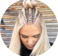 Плетение из волос прически