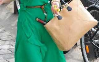 С чем сочетать зеленое платье