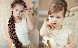 Локоны на средние волосы для девочек