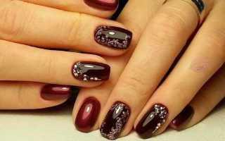 Дизайн ногтей цвет марсала фото