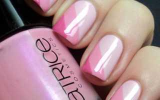 Дизайн ногтей на розовом гель лаке