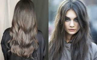 Холодный светло каштановый цвет волос