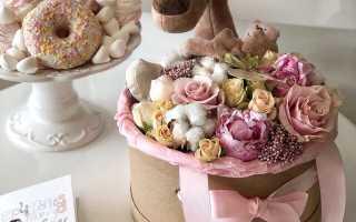 Мини коробочки с цветами