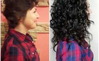 Фото нарощенных волос