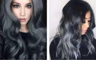 Мелирование пепельным цветом на темные волосы фото