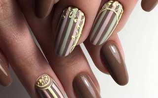 Дизайн ногтей полосы