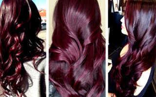 Цвет волос вишня в шоколаде