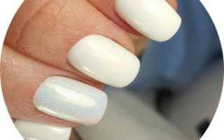Дизайн ногтей с белым песком