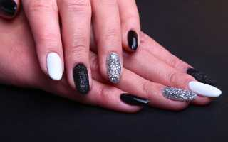 Дизайн ногтей прозрачный с блестками