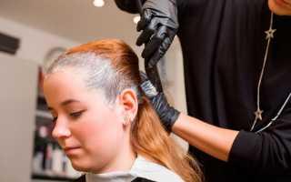 Окрашивание волос безаммиачной краской