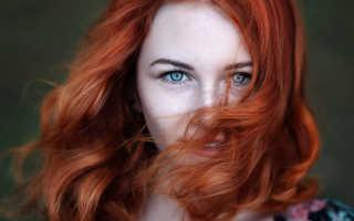 Какой цвет сочетается с рыжими волосами