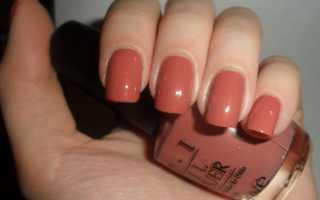Дизайн ногтей терракотовый цвет