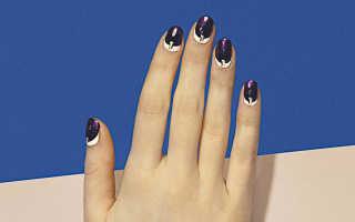 Рисунки на ногтях лаком и иголкой