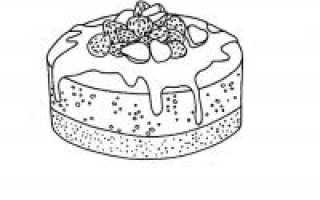 Как нарисовать красивый торт на день рождения