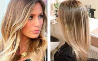 Калифорнийское мелирование на русые волосы средней