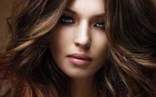 Карамельный балаяж на темные волосы средней длины