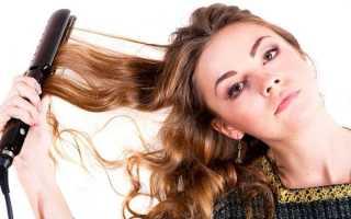 Накрутка волос на утюжок