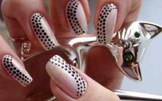 Рисунок на ногтях самой себе