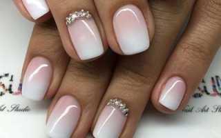 Рисунок на коротких ногтях фото
