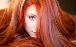 Калифорнийское мелирование на рыжие волосы фото