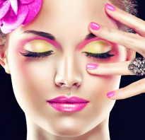 Макияж под розовое платье для брюнеток