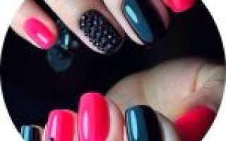 Дизайн ногтей розовый