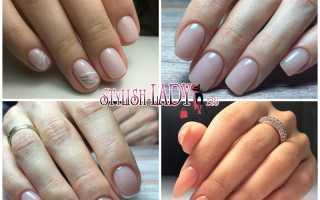 Дизайн ногтей естественного цвета