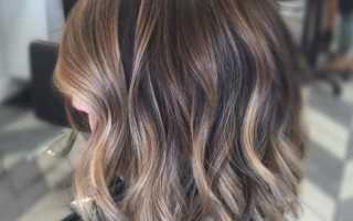 Окраска балаяж на русые волосы