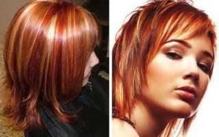Мелирование на медный цвет волос фото