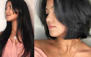 Короткая стрижка на темные волосы
