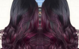 Окрашивание волос омбре на темные волосы