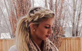 Убранные прически на средние волосы